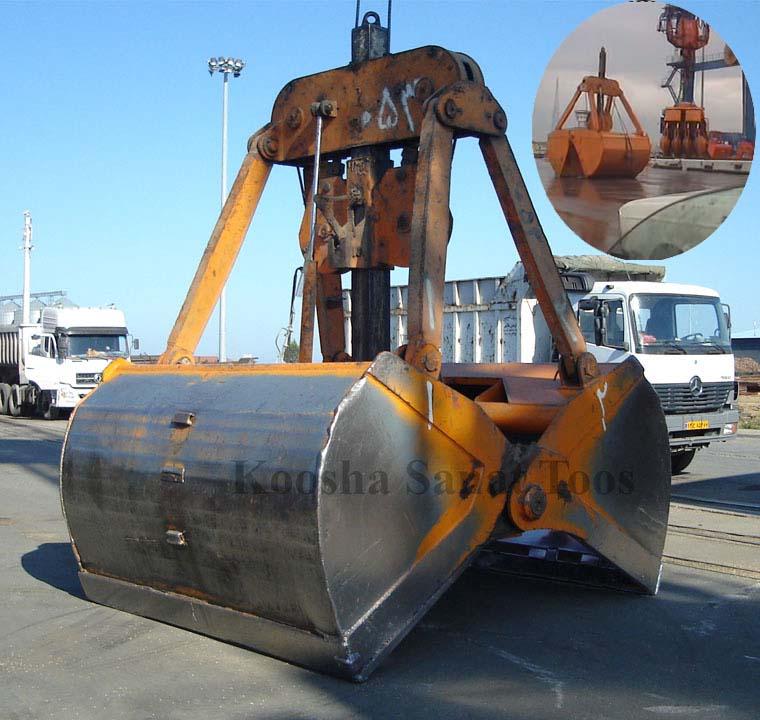 طراحی و ساخت گراب مکانیکی 8 مترمکعبی شرکت تایدواتر خاورمیانه (بندر امیرآباد) سال 84