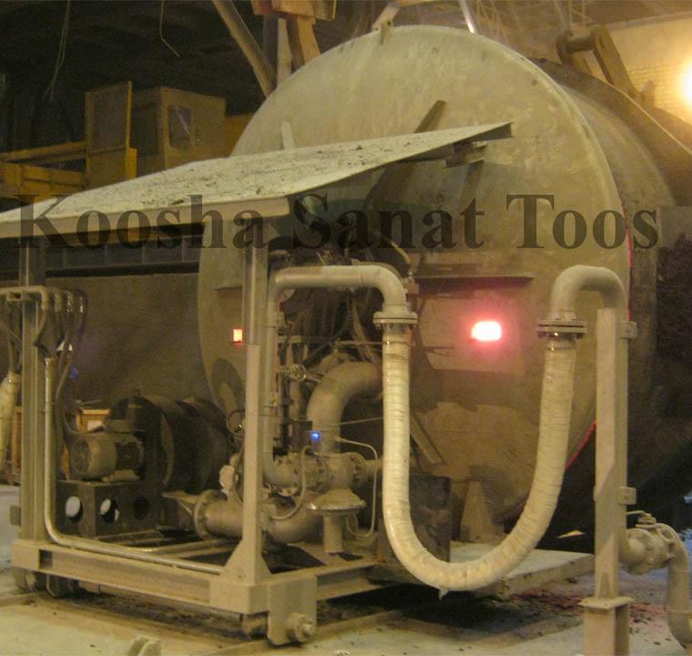 طراحی و ساخت پیش گرمکن افقی و درایر پاتیل -شرکت آهن و فولاد ارفع- سال ۹۳