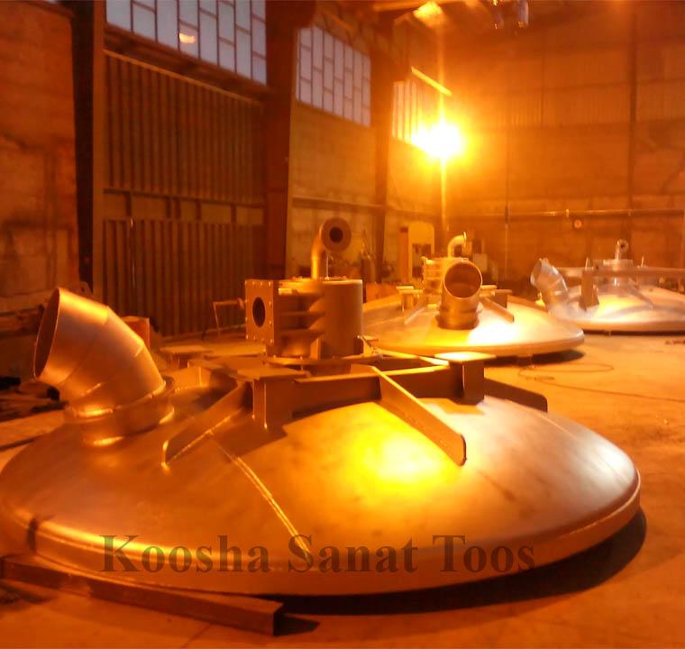 طراحی و ساخت  پیش گرمکن عمودی پاتیل آفلاین - شرکت آهن و فولاد ارفع- دو دستگاه- سال ۹۴